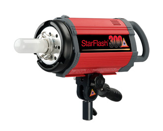 PHOTOFLEX StarFlash 300 Flash Head 220v-240v CE Approved