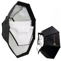 OctoDome nxt 8-kantet SoftBox / Blitz / Ø91cm - Sølv innside (max 1000watt lyskilde)