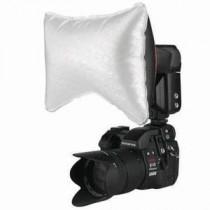 """PHOTOFLEX Mini SoftBox for """"på-kamera-blitz"""" / Large-6x10cm"""