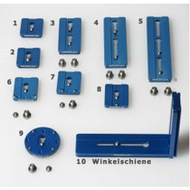 """NOVOFLEX Q=Plate Double 155mm with 2 screws 1/4"""" and 3/8"""""""